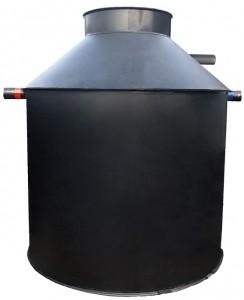 Behälter zylindrisch mit Stutzen